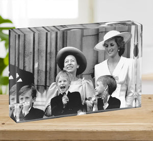 Princess Diana with Prince Harry watching Trooping the Colour Acrylic Block - Canvas Art Rocks - 2