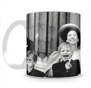 Princess Diana with Prince Harry watching Trooping the Colour Mug - Canvas Art Rocks - 2