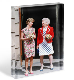 Princess Diana with US First Lady Barbara Bush Acrylic Block - Canvas Art Rocks - 1