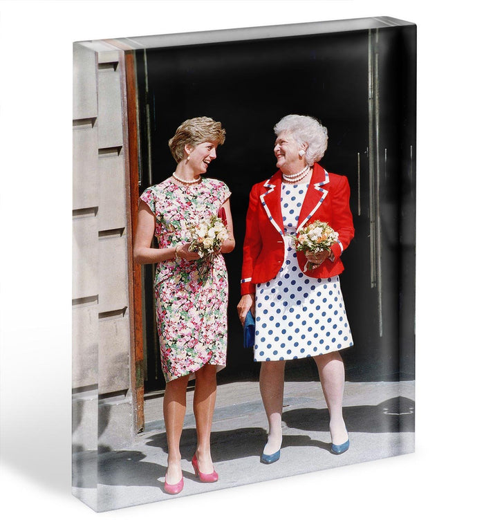 Princess Diana with US First Lady Barbara Bush Acrylic Block