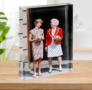 Princess Diana with US First Lady Barbara Bush Acrylic Block - Canvas Art Rocks - 2