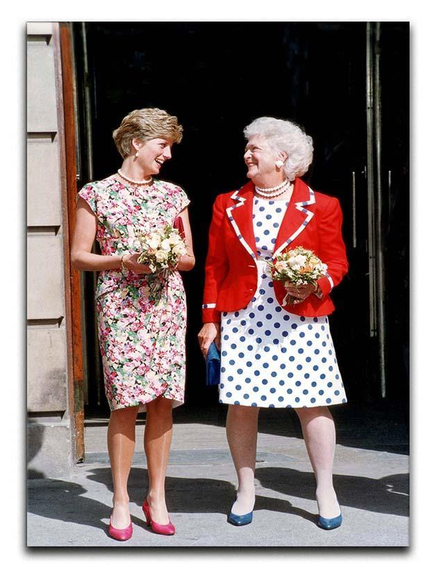 Princess Diana with US First Lady Barbara Bush Canvas Print or Poster  - Canvas Art Rocks - 1