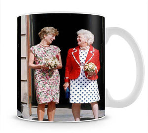 Princess Diana with US First Lady Barbara Bush Mug - Canvas Art Rocks - 1