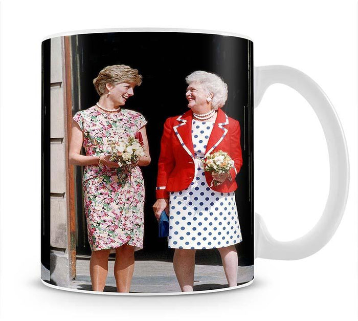 Princess Diana with US First Lady Barbara Bush Mug