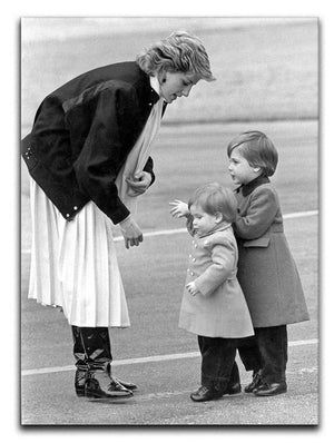 Princess Diana with little Prince Harry and Prince William Canvas Print or Poster  - Canvas Art Rocks - 1