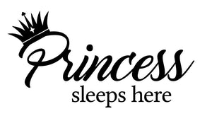 Princess Sleeps Here Wall Decal - Canvas Art Rocks - 2
