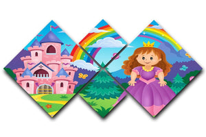 Princess theme image 2 4 Square Multi Panel Canvas  - Canvas Art Rocks - 1