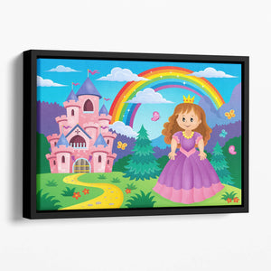 Princess theme image 2 Floating Framed Canvas