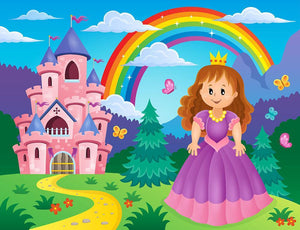 Princess theme image 2 Wall Mural Wallpaper - Canvas Art Rocks - 1