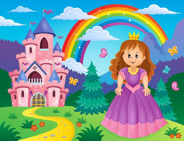 Princess theme image 2 Wall Mural Wallpaper