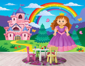 Princess theme image 2 Wall Mural Wallpaper - Canvas Art Rocks - 2