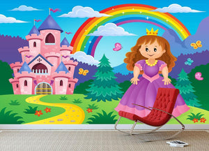 Princess theme image 2 Wall Mural Wallpaper - Canvas Art Rocks - 3