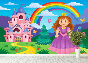 Princess theme image 2 Wall Mural Wallpaper - Canvas Art Rocks - 4