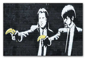Banksy Pulp Fiction Banana Guns Print - Canvas Art Rocks - 2