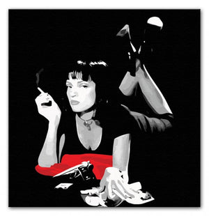 Pulp Fiction Mia Wallace Print - Canvas Art Rocks - 1