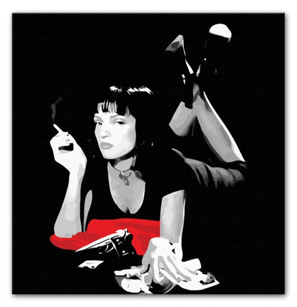 Pulp Fiction Mia Wallace Canvas Print or Poster