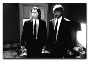 Pulp Fiction Black and White Print - Canvas Art Rocks - 1