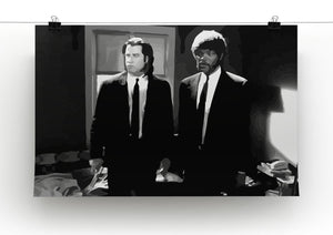 Pulp Fiction Black and White Print - Canvas Art Rocks - 2