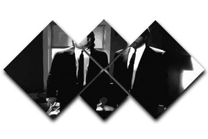Pulp Fiction Black and White 4 Square Multi Panel Canvas  - Canvas Art Rocks - 1