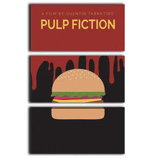 Pulp Fiction Burger Minimal Movie 3 Split Panel Canvas Print - Canvas Art Rocks - 1