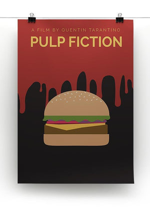 Pulp Fiction Burger Minimal Movie Canvas Print or Poster - Canvas Art Rocks - 2