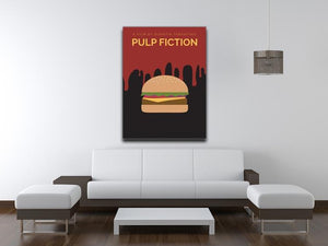Pulp Fiction Burger Minimal Movie Canvas Print or Poster - Canvas Art Rocks - 4