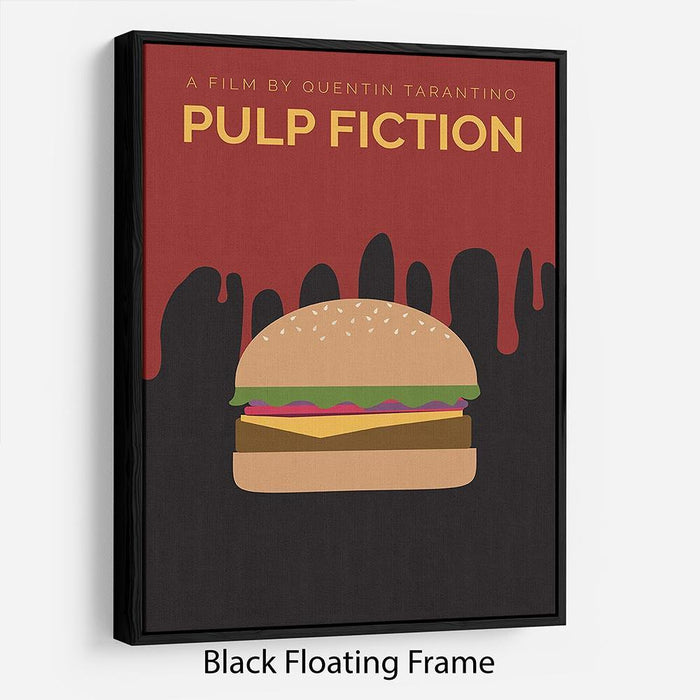 Pulp Fiction Burger Minimal Movie Floating Frame Canvas