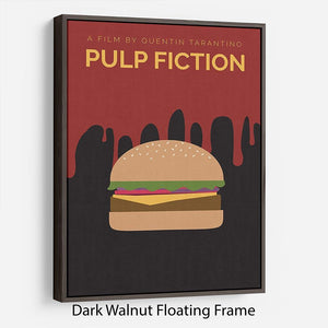 Pulp Fiction Burger Minimal Movie Floating Frame Canvas - Canvas Art Rocks - 5