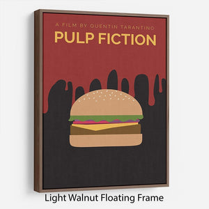 Pulp Fiction Burger Minimal Movie Floating Frame Canvas - Canvas Art Rocks - 7