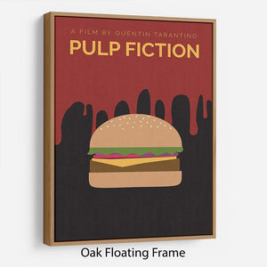 Pulp Fiction Burger Minimal Movie Floating Frame Canvas - Canvas Art Rocks - 9