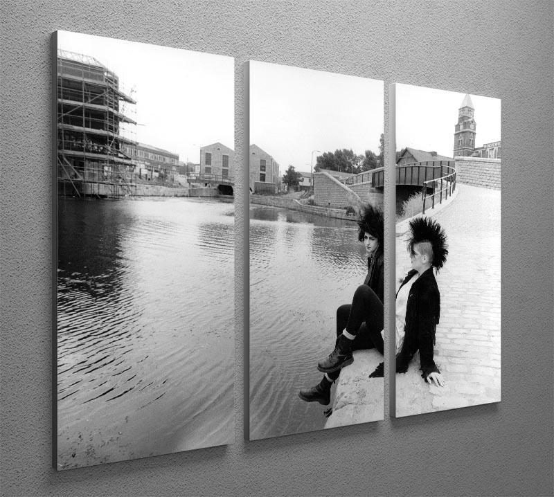 Punks by the canal 3 Split Panel Canvas Print - Canvas Art Rocks - 2