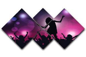 Purple Dancers 4 Square Multi Panel Canvas  - Canvas Art Rocks - 1