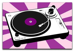 Purple Pop Art Turntable Canvas Print or Poster  - Canvas Art Rocks - 1