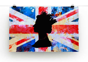 Union Jack Queen in Silhouette Print - Canvas Art Rocks - 2