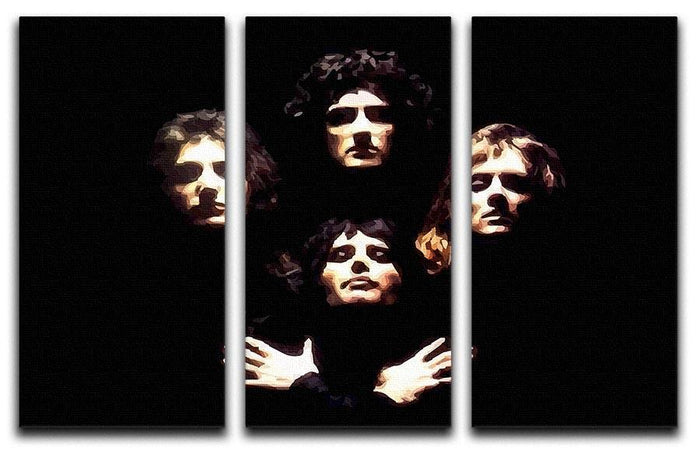 Queen 3 Split Panel Canvas Print