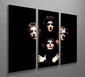 Queen 3 Split Panel Canvas Print - Canvas Art Rocks - 2