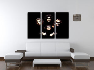 Queen 3 Split Panel Canvas Print - Canvas Art Rocks - 3
