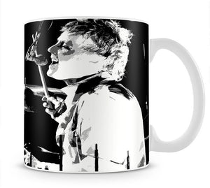 Queen Drummer Roger Taylor Pop Art Mug - Canvas Art Rocks - 1