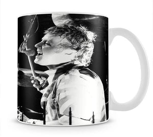 Queen Drummer Roger Taylor on stage Mug - Canvas Art Rocks - 1