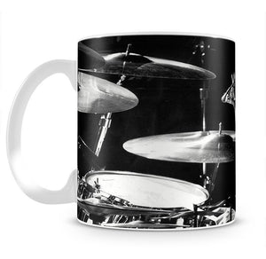 Queen Drummer Roger Taylor on stage Mug - Canvas Art Rocks - 2