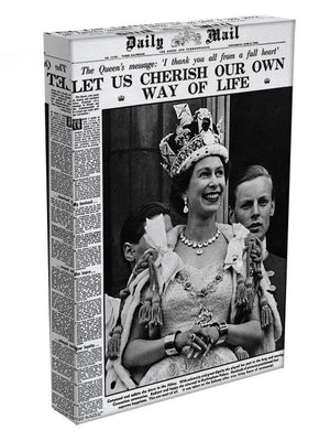 Queen Elizabeth II Coronation Daily Mail front page 3 June 1953 Canvas Print or Poster - Canvas Art Rocks - 3