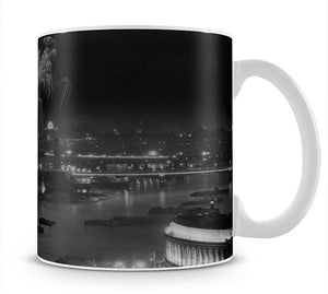 Queen Elizabeth II Coronation evening fireworks on the Thames Mug - Canvas Art Rocks - 1