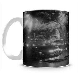 Queen Elizabeth II Coronation evening fireworks on the Thames Mug - Canvas Art Rocks - 2