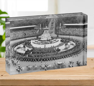Queen Elizabeth II Coronation leaving Buckingham Palace Acrylic Block - Canvas Art Rocks - 2