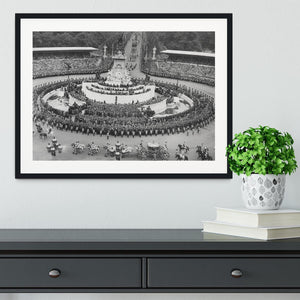 Queen Elizabeth II Coronation leaving Buckingham Palace Framed Print - Canvas Art Rocks - 1