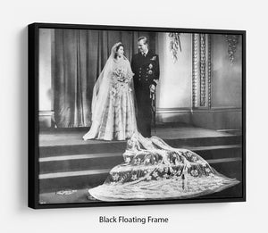 Queen Elizabeth II Wedding portrait of the couple at the palace Floating Frame Canvas