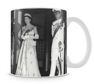 Queen Elizabeth II and Prince Philip during a tour of Nigeria Mug - Canvas Art Rocks - 1