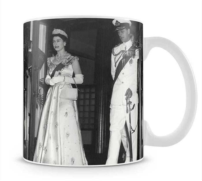 Queen Elizabeth II and Prince Philip during a tour of Nigeria Mug
