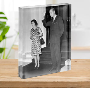 Queen Elizabeth II and Prince Philip hosting a state visit Acrylic Block - Canvas Art Rocks - 2