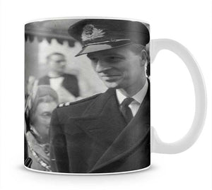 Queen Elizabeth II and Prince Philip touring as young couple Mug - Canvas Art Rocks - 1